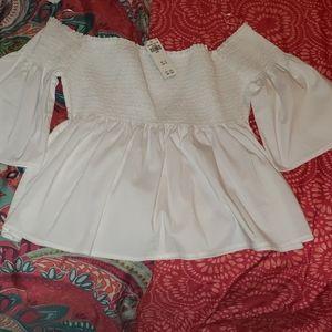 Hollister shoulder blouse.